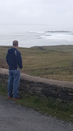 Looking out at the Atlantic ocean
